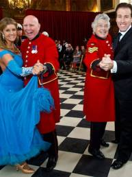 Anton & Erin with the Chelsea Pensioners