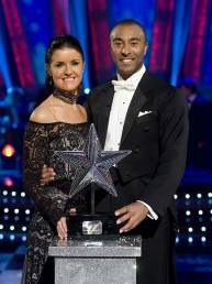 Erin Boag and Colin Jackson winning Strictly Christmas Special